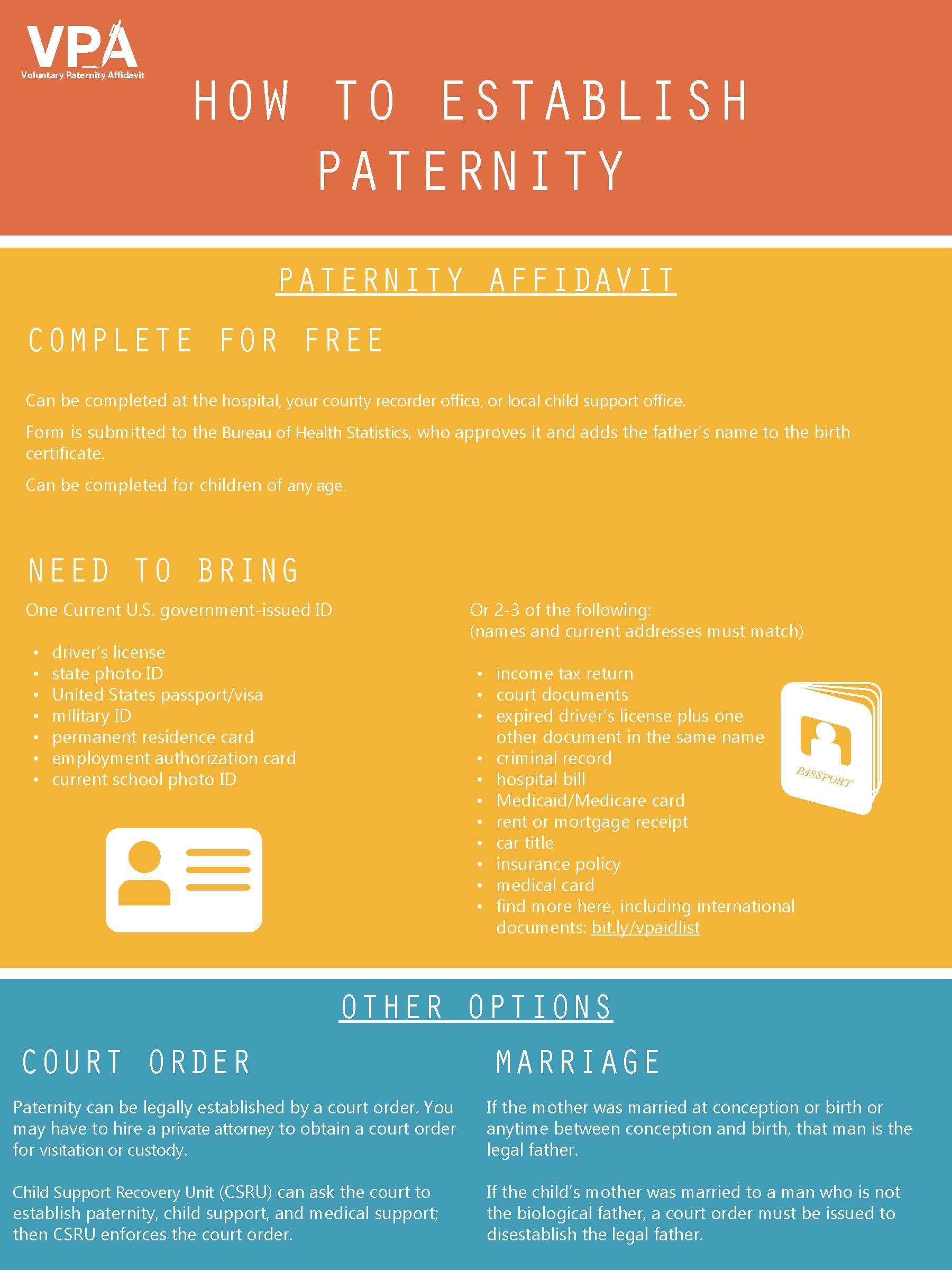 Paternity Establishment PDF